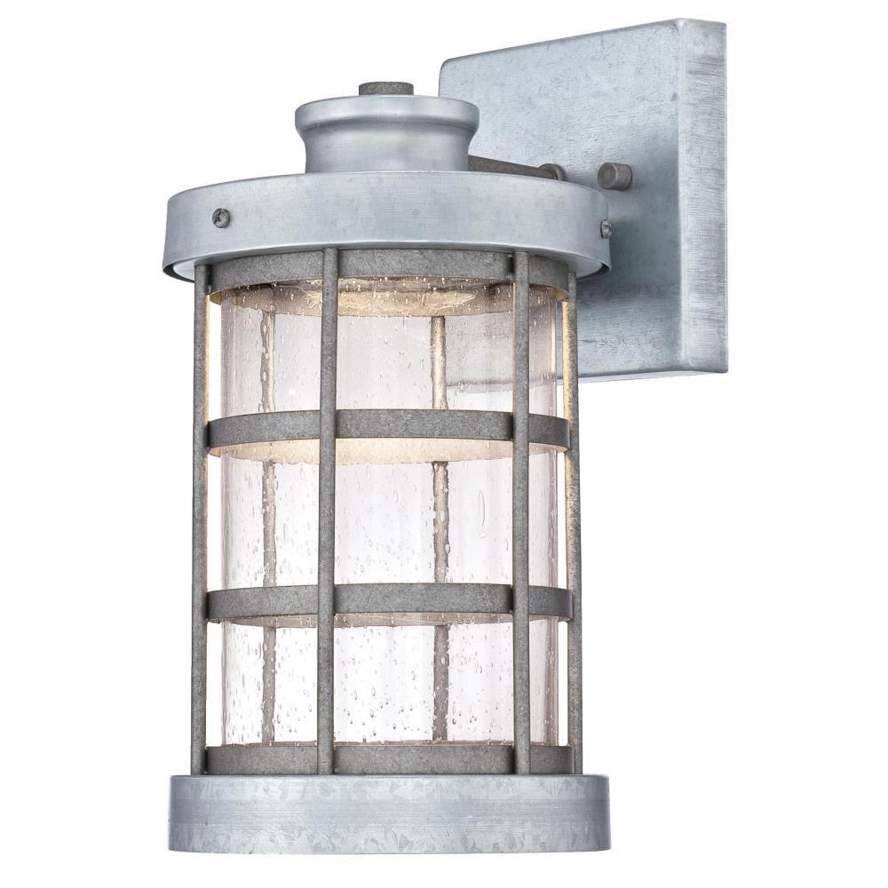 Westinghouse Barkley 1 Light Galvanized Steel Outdoor Integrated Led Wall Lantern Sconce