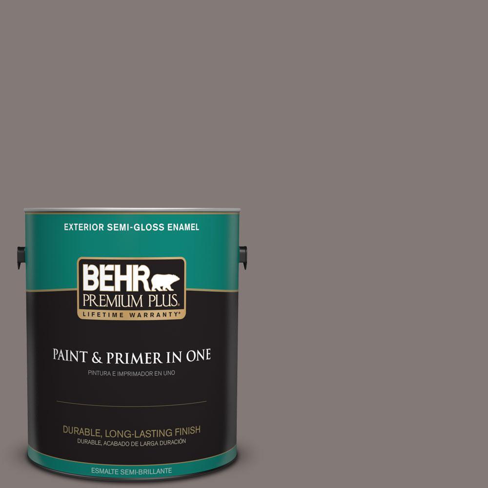 1-gal. #N140-5 Complex Gray Semi-Gloss Enamel Exterior Paint