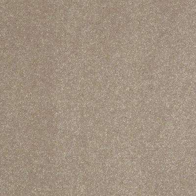 Full Bloom II - Color Cafe Au Lait Texture 12 ft. Carpet