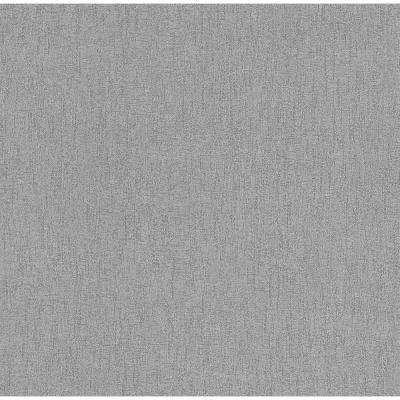 8 in. x 10 in. Wes Silver Textured Wallpaper Sample