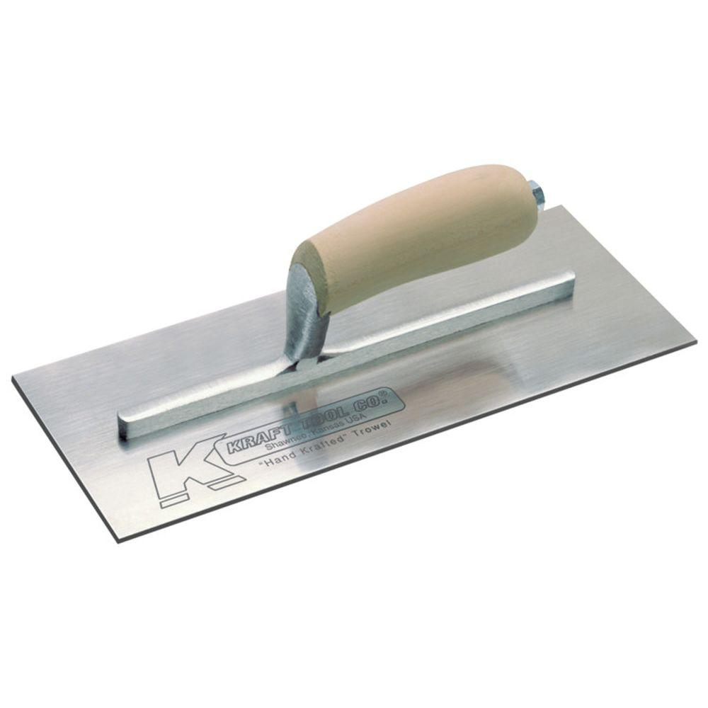 12 in. x 5 in. Swedish Stainless Steel Carbon Finish Trowel