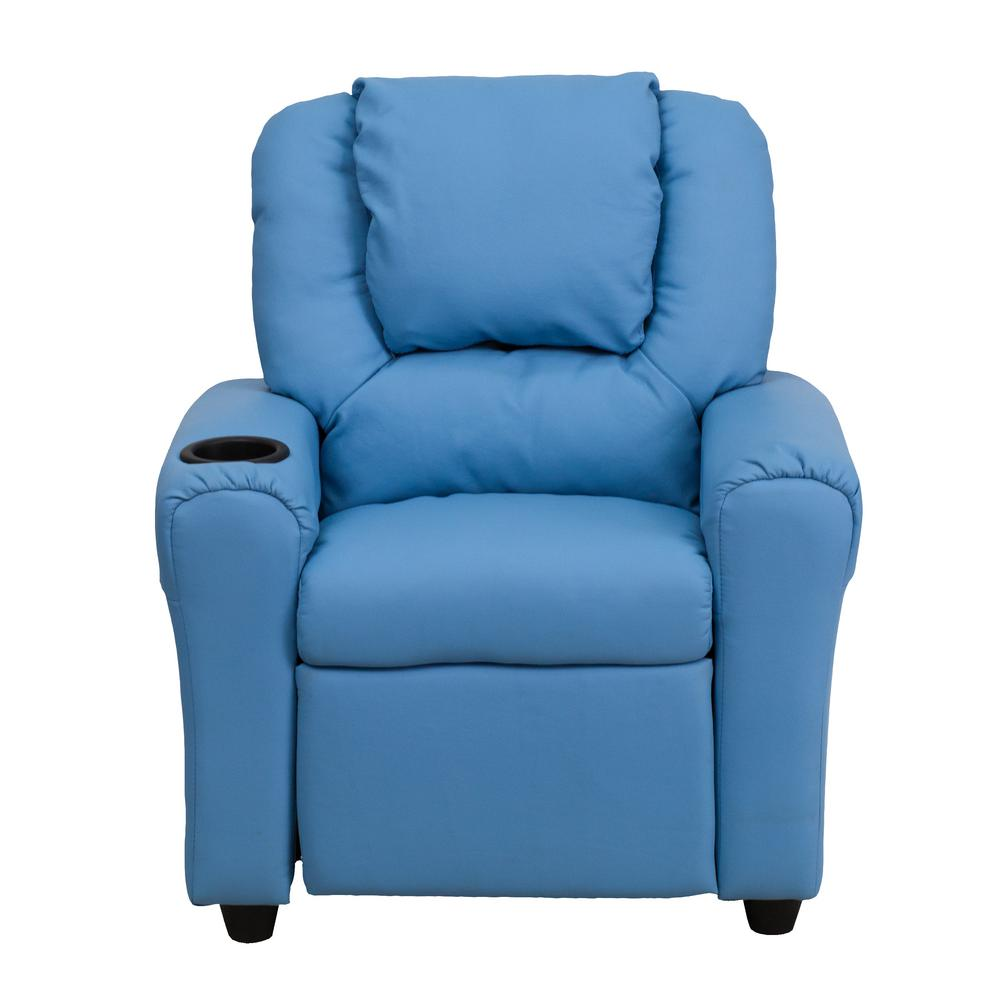 This Review Is From:Contemporary Light Blue Vinyl Kids Recliner With Cup  Holder And Headrest