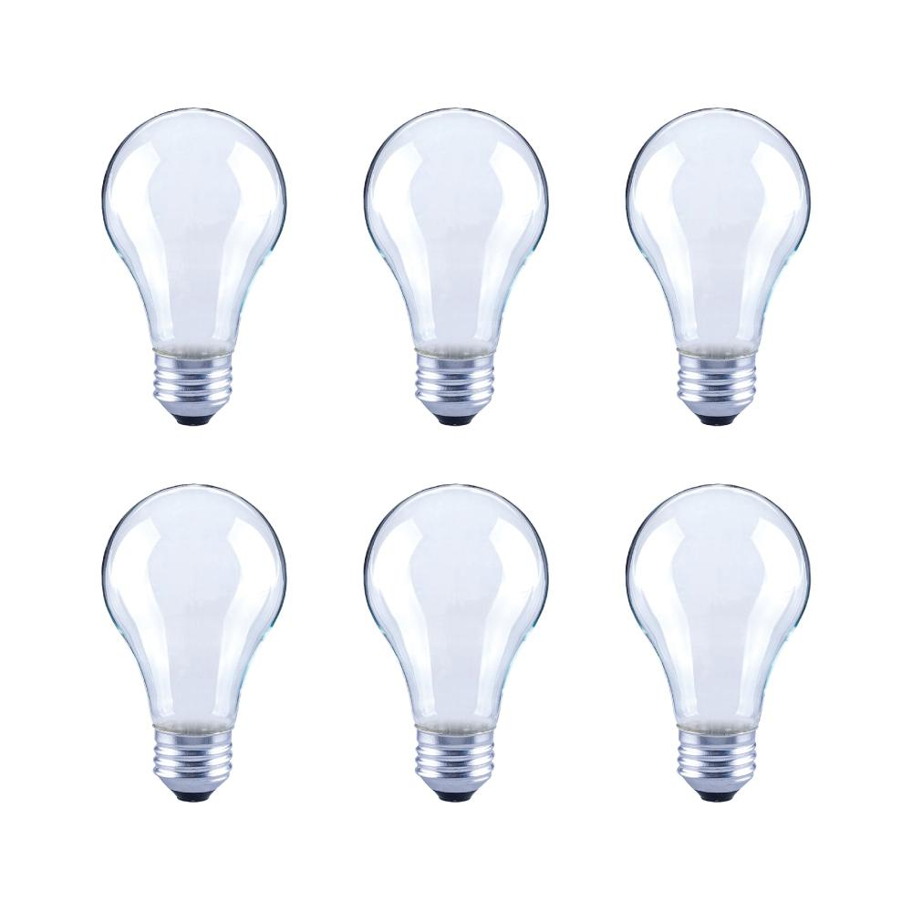 60-Watt Equivalent A19 Frosted Glass Vintage Decorative Edison Filament Dimmable LED Light Bulb Soft White (6-Pack)