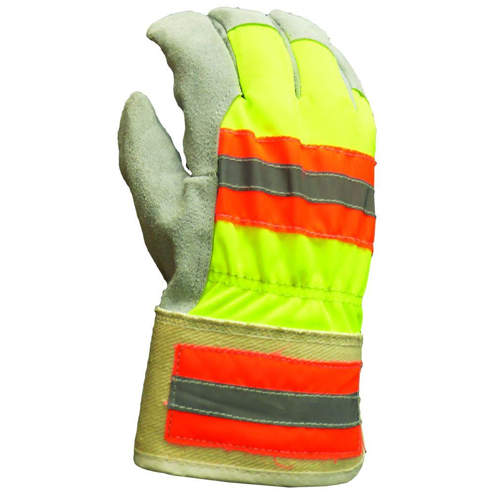 1ed1ac06aef9f Firm Grip. Winter High Visibility Suede Leather Palm Large 40g Thinsulate  Gloves