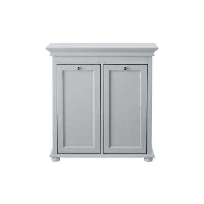 Hampton Harbor 26 in. Double Tilt-Out Hamper in Dove Grey