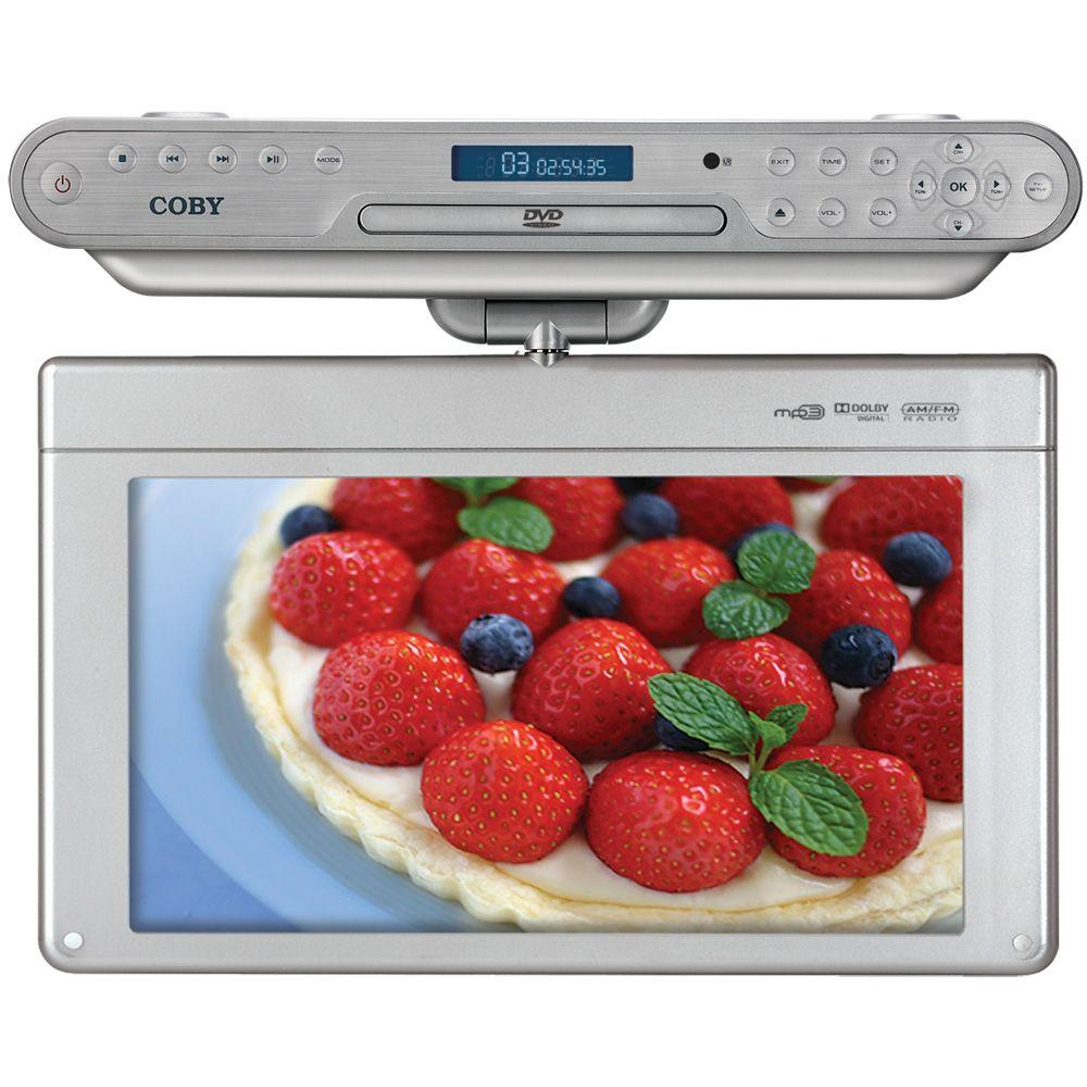 Coby 15 in. LCD 480p 60Hz Under-the-Cabinet HDTV with DVD/CD Player-DISCONTINUED