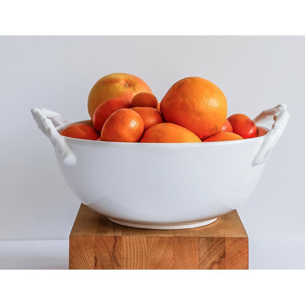96 oz. White Nordic Stoneware Serve Bowl