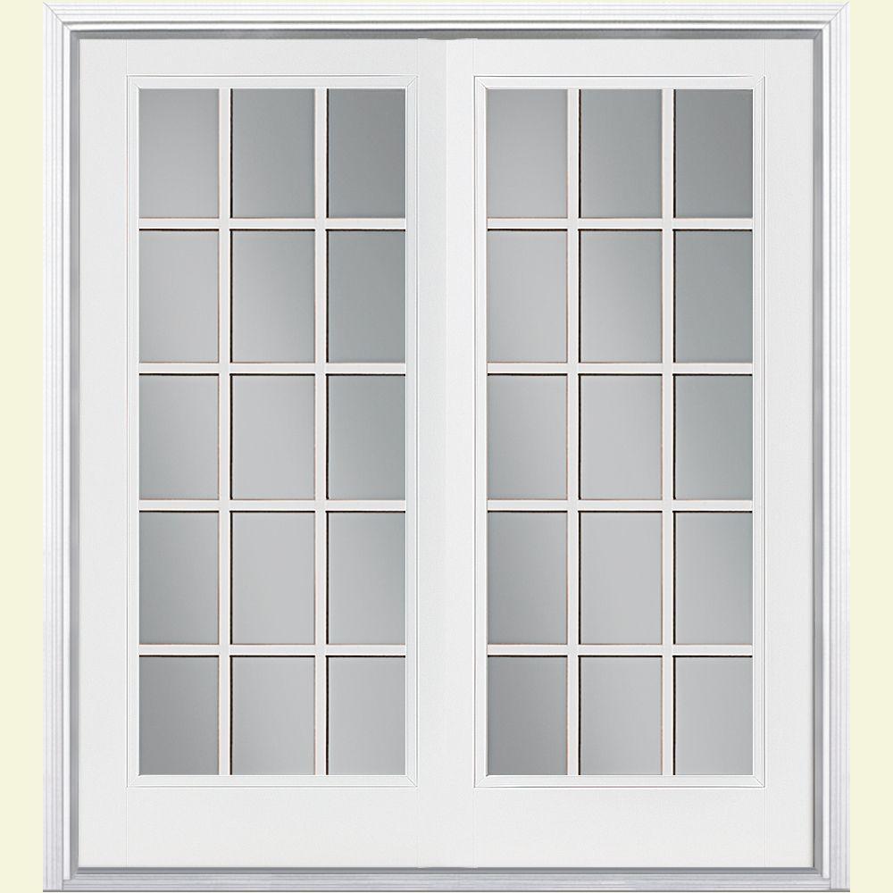 High Quality Prehung 15 Lite Steel Patio Door ...