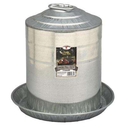 5 gal. Metal Double Wall Poultry Fount