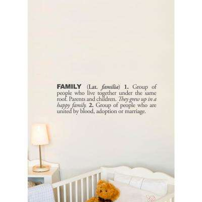 (31 in x 10 in) Family (english) Wall Decal
