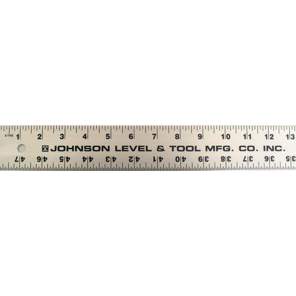 Johnson 48 in. Aluminum Straight-Edge Ruler