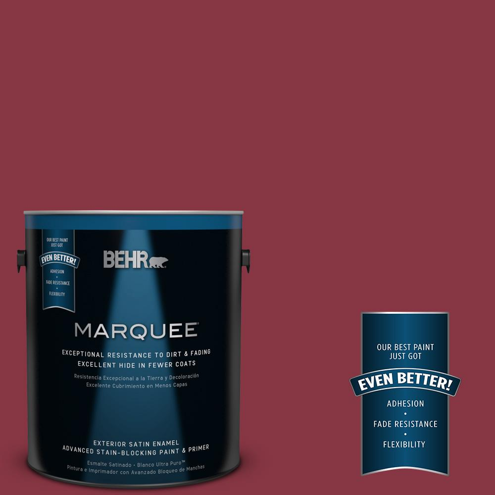 BEHR MARQUEE 1-gal. #S-H-120 Antique Ruby Satin Enamel Exterior Paint