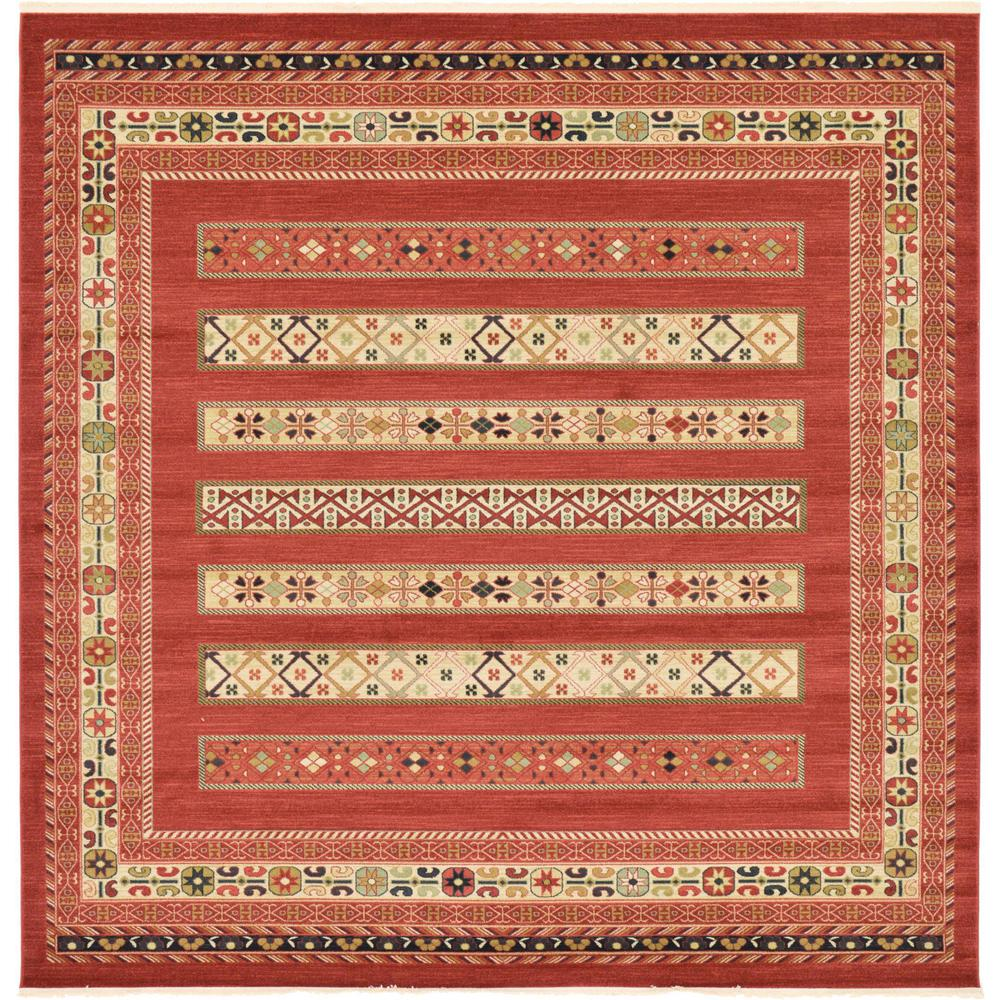 Fars Rust Red 10' x 10' Square Rug
