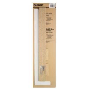 5-5/16 in. 25-1/4 in. Laminate Endcap Kit in Frosty White with Tempo Edge