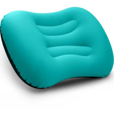 Turquoise Ult-Ralight Inflatable Air Pillow Compressible Compact for Neck and Lumbar Support for Travel Trips Camping