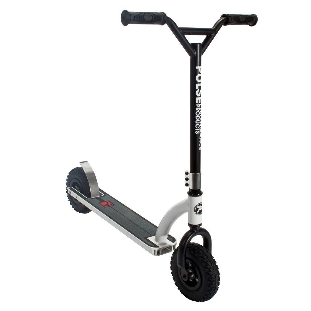 DX1 Freestyle Dirt Scooter in Black and White