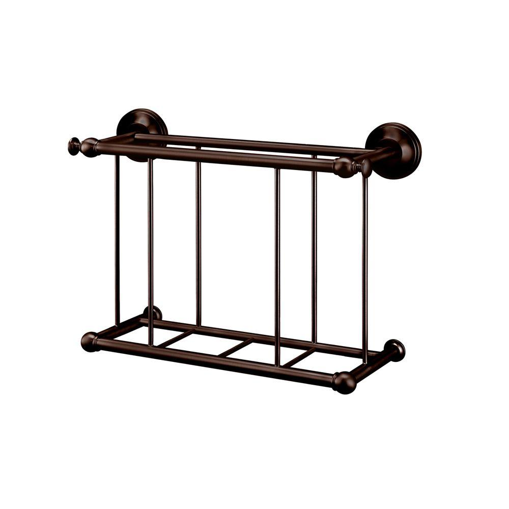 Gatco Traditional Magazine Rack in Bronze