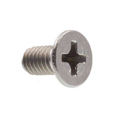M4-0.7 x 8 mm Metric Grade A2-70 Stainless Steel Phillips Drive Flat Head Machine Screws (10-Pack)
