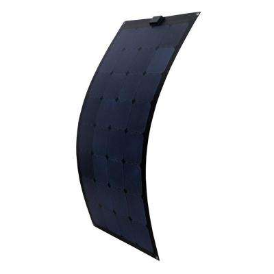 100-Watt Semi-Flex Monocrystalline Silicon Solar Panel for 12-Volt Charging