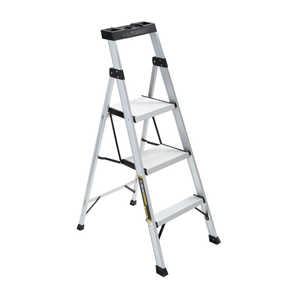 Gorilla Ladders 4.5 ft. Aluminum Hybrid Ladder with 250 lbs. Load Capacity Type I Duty Rating