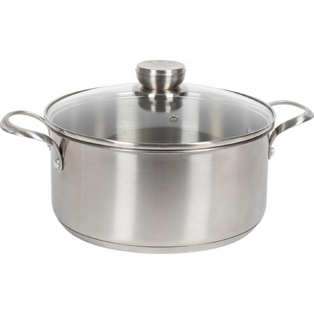 Frigidaire 5 Qt. Stainless Steel Induction Compatible Stock Pot with Lid