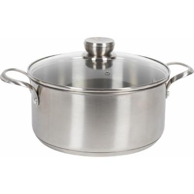 5 qt. Stainless Steel Stock Pot with Glass Lid