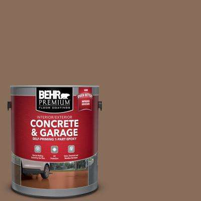 1 gal. #N190-6 Nut Brown Self-Priming 1-Part Epoxy Satin Interior/Exterior Concrete and Garage Floor Paint