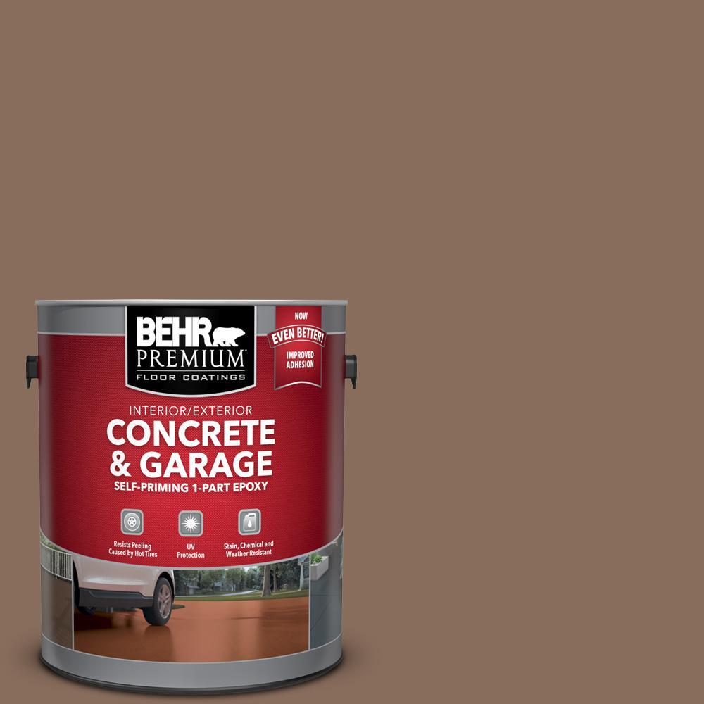 1 gal. #N190-6 Nut Brown Self-Priming 1-Part Epoxy Satin Interior/Exterior Concrete and Garage Floor Paint