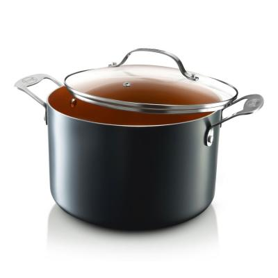 7 Qt. Aluminum Non-Stick Ti-Ceramic Stock Pot with Glass Lid