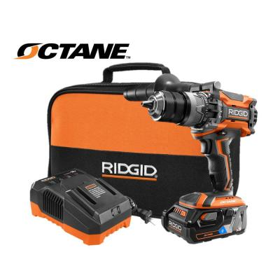Rigid R8611506sb 18-Volt OCTANE LIthium-Ion Cordless Brushless 1/2 inch Hammer Drill Kit (New Open Box)
