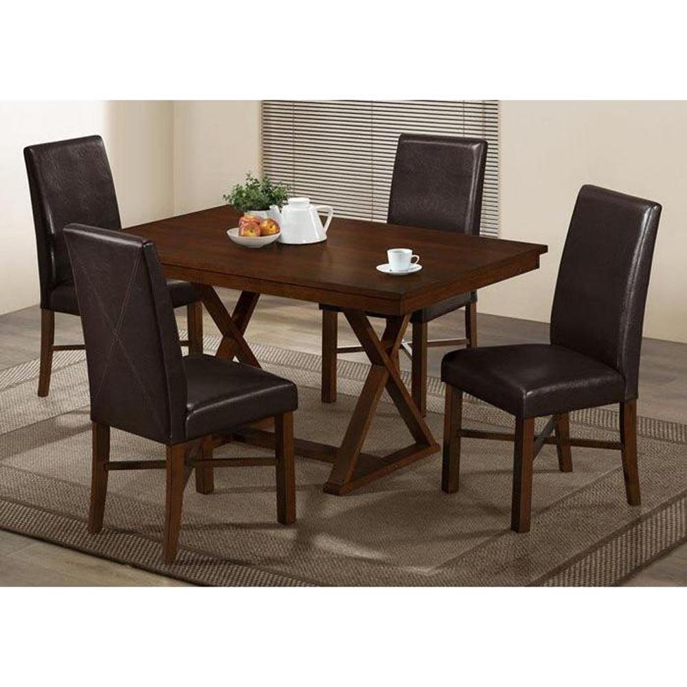 Monarch Specialties 36 in. x 60 in. Modern Oak Veneer Dining Table