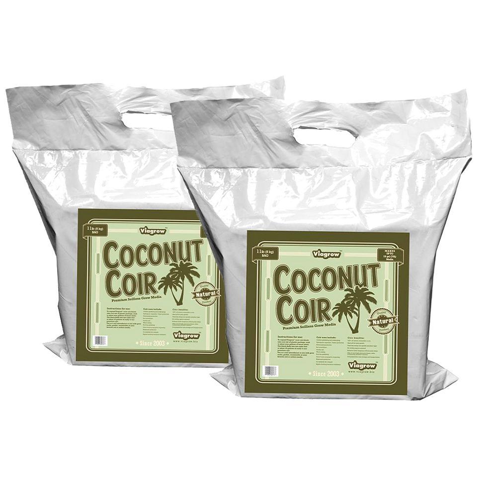 11 lb. Coconut Coir Block Soilless Grow Media (2-Pack)