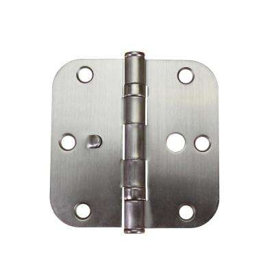 3-1/2 in. Satin Nickel 5/8 in. Radius Ball Bearing Door Hinge Value Pack (3-Pack)