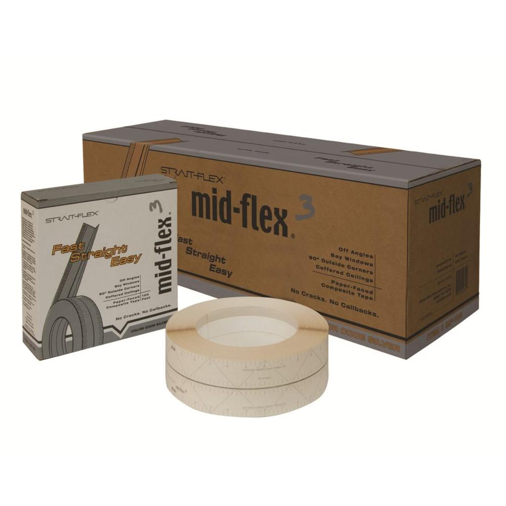 Strait-Flex 3 in. x 100 ft. Mid-Flex 300 Laminated Drywall Corner Tape MF-100 (Case of 10)