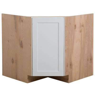 Cambridge Ready to Assemble 36x34.5x24.5 in. Corner Sink Base Cabinet in White