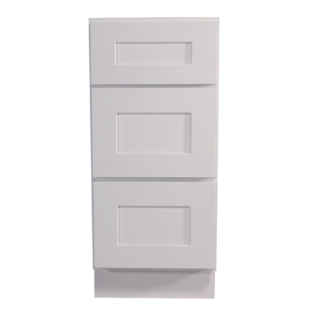 Fully Assembled Kitchen Cabinets: Hampton Bay Madison Assembled 18x34.5x24 In. 3-Drawer Base