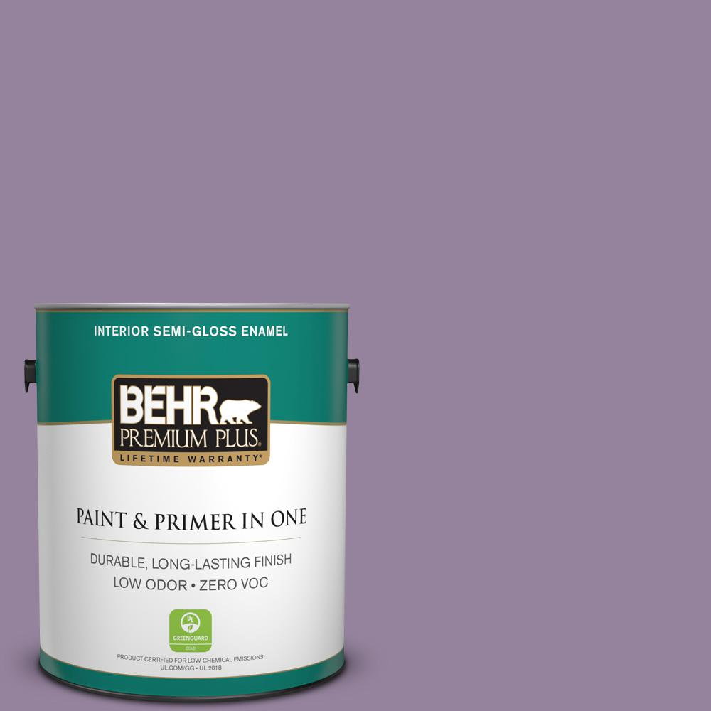 1-gal. #670D-6 Mixed Berries Zero VOC Semi-Gloss Enamel Interior Paint