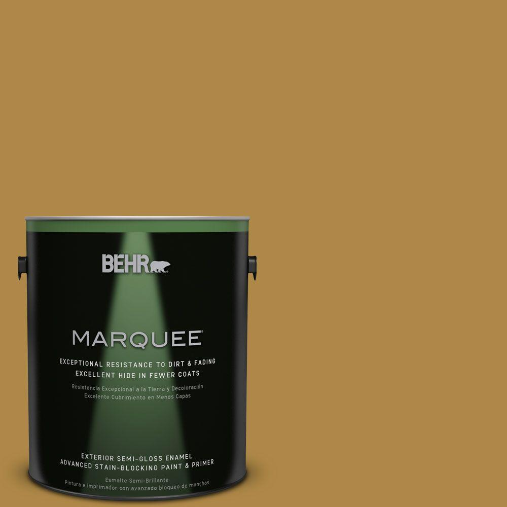 BEHR MARQUEE 1-gal. #M300-6 Indian Spice Semi-Gloss Enamel Exterior Paint