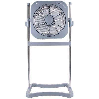 12 in. 3-Speed 3-in-1 Stand Fan with Swirl Cool Technology - Platinum