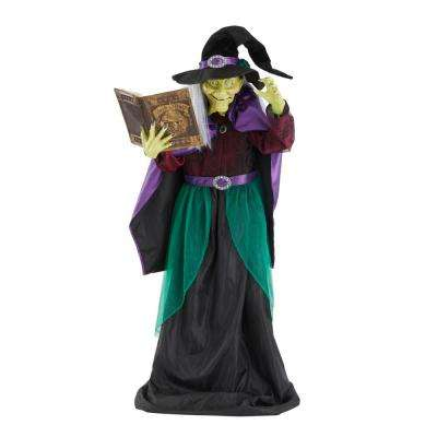 7 ft. Animated Book Witch
