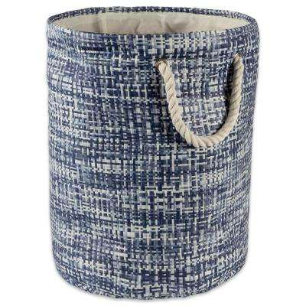 Round Woven Paper Tweed Decorative Bin