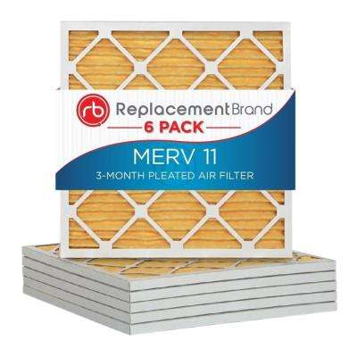 MERV 11 12 in. x 12 in. x 1 in. Air Purifier Replacement Filter (6-Pack)