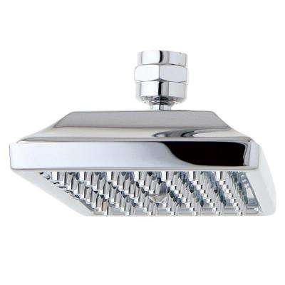 Square 1-Spray 6 in. x 4 in. Relaxing Spray Showerhead in Polished Chrome