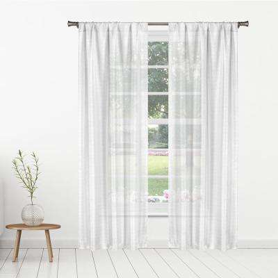 Kealy 38 in. W x 84 in. L Polyester Window Panel in White