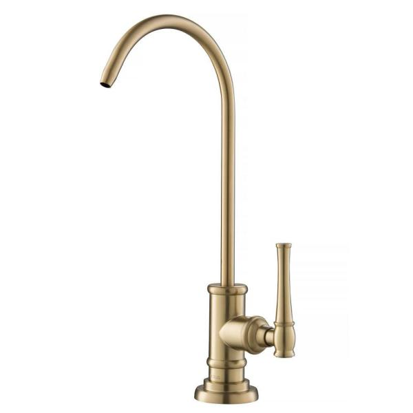 Allyn Single-Handle Water Dispenser Faucet for Water Filtration System in Brushed Gold