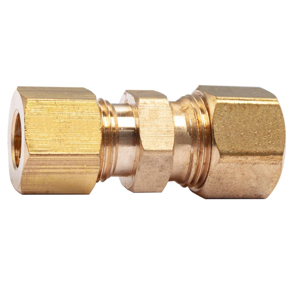 """Pack of 5 New Brass 5//16/"""" OD x 1//4/"""" Female NPT Compression Connector Fitting"""