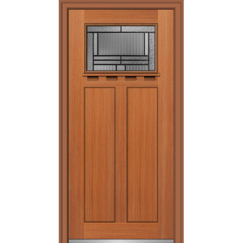 Mmi door 36 in x 80 in brighton glass left hand 1 lite for Exterior doors w glass