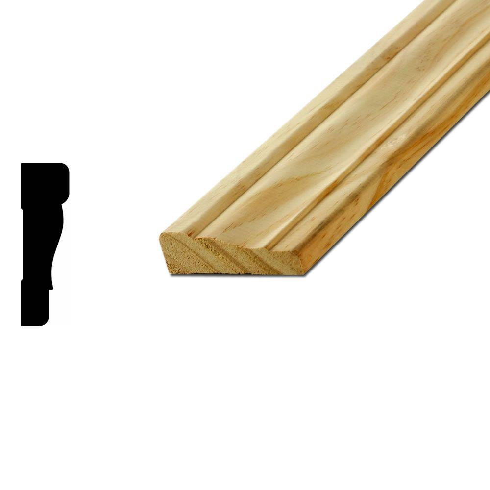AmericanWoodMoulding American Wood Moulding WM 356 11/16 in. x 2-1/4 in. Pine Casing, Green