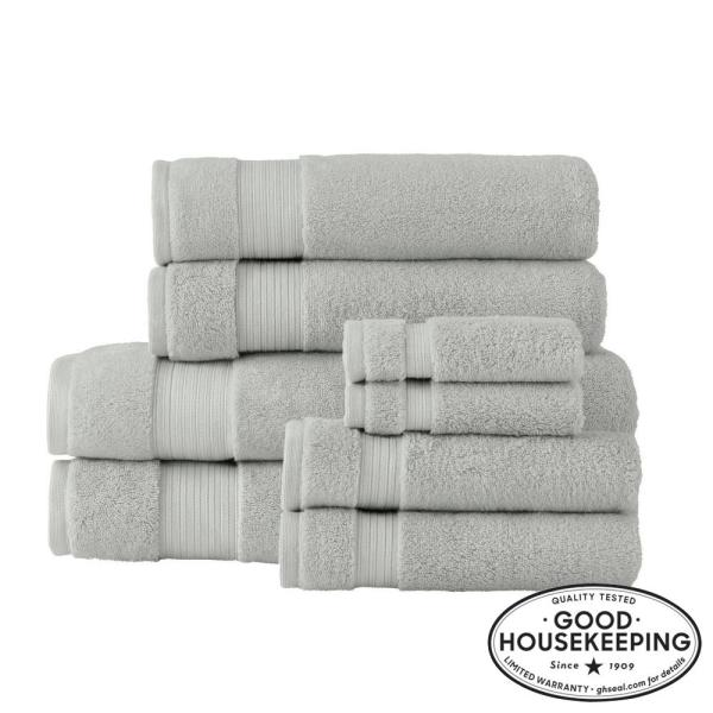 Egyptian Cotton 8-Piece Bath Sheet Towel Set in Shadow Gray