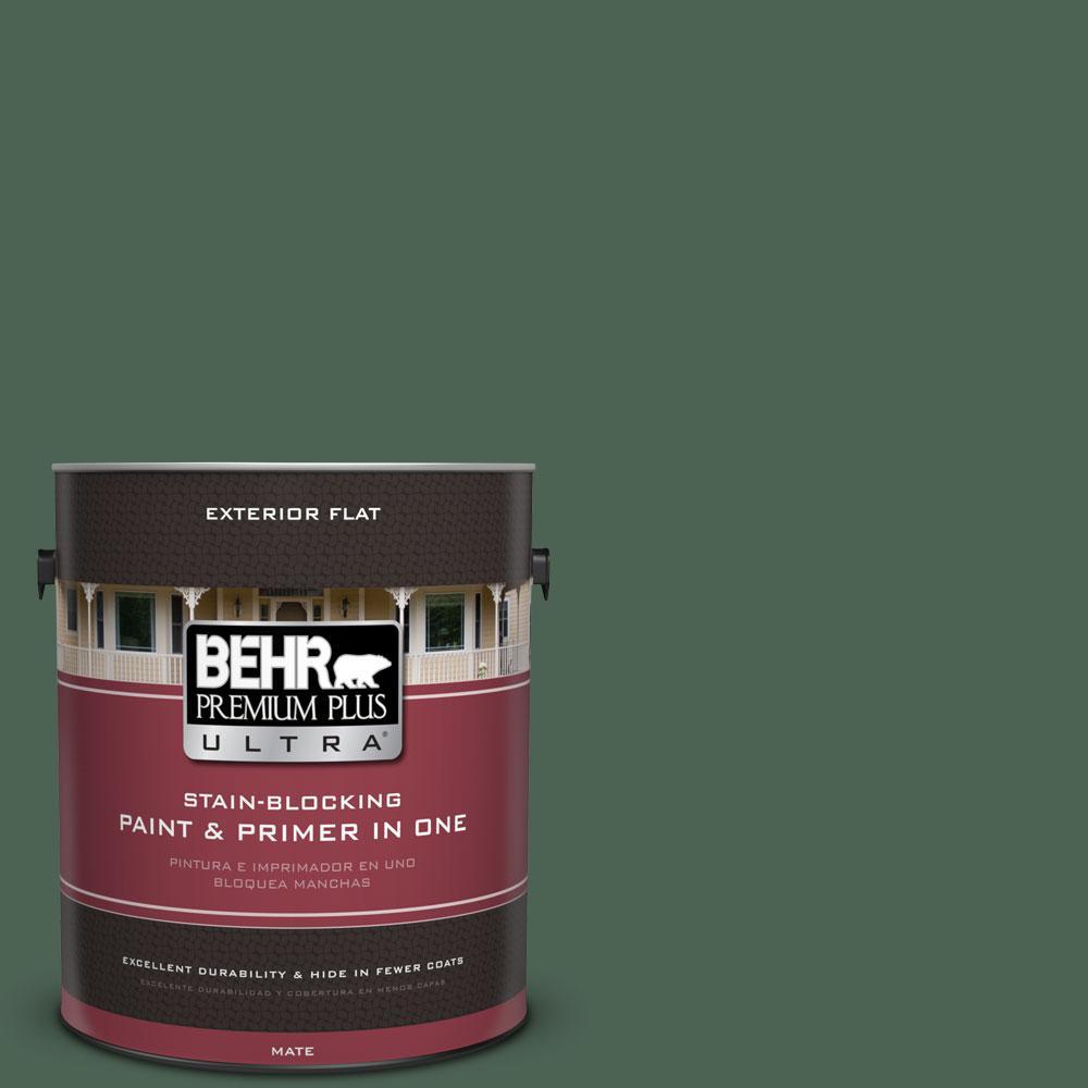 BEHR Premium Plus Ultra 1-Gal. #PPU11-20 Congo Flat Exterior Paint